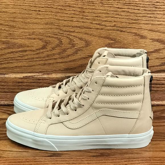 5c210d5754 Vans Sk8-Hi Reissue Zip Veggie Tan Leather Shoes